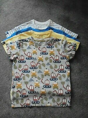 NEXT t shirt bundle, boys, age 4, / blue/yellow/white/digger