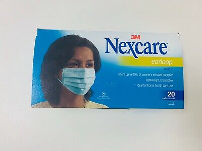 NEW 3M Nexcare Ear Loop Face Mask - 20 Count Earloop Facemasks - FREE SHIPPING!