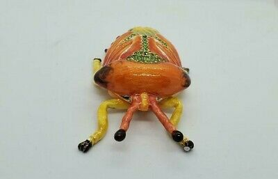 Enameled Jewel Insect Trinket Box