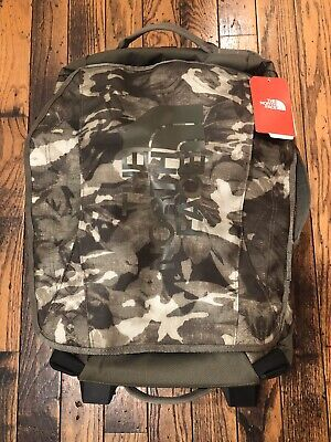 The North Face Rolling Thunder Wheeled 22 Suitcase Taupe Green/Tropical Camo NEW