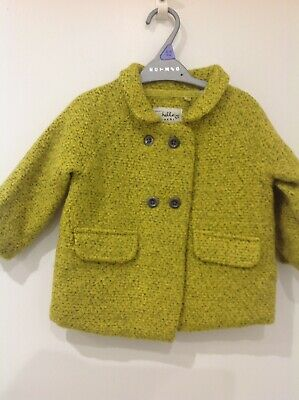 Next 12-18 Months Girls Warm Jacket Coat Lined Double Breasted