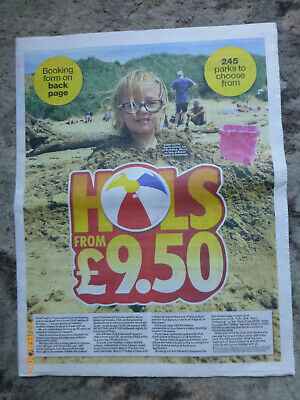 The Sun £9.50 Holidays Booking form,+ the 10Tokens Needed to apply.
