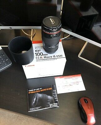 Excellent Canon EF 100mm f/2.8l Macro IS USM Lens (L Series)!