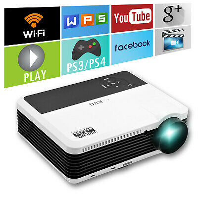 WIFI Android HD LED Projector Miracast Online Home Theater HDMI USB VGA HD 1080P