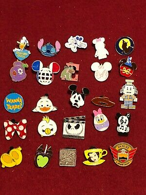 25 Disney pins Assorted Trading B  As Seen Lot x