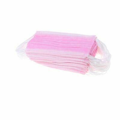 50 Surgical Face Mask Disposable 3 Ply Fluid Resistant Pink Surgical Grade Mask