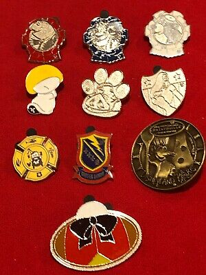 10 Disney pins Assorted Movies  As Seen Lot x