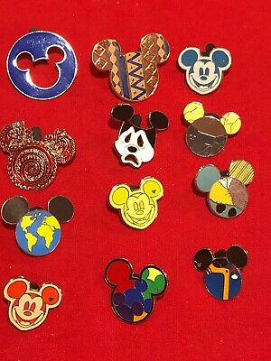 12 Disney pins Assorted Mouse Ear Icons  As Seen Lot x
