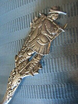 GORHAM Hunter STAG Bird Serving SPOON 1885 STERLING SILVER Hunting MAN FIGURAL