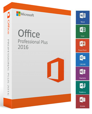 OFFICE PROFESSIONAL PLUS 2016 Retail KEY 1PC + Link all Languages + Instructions