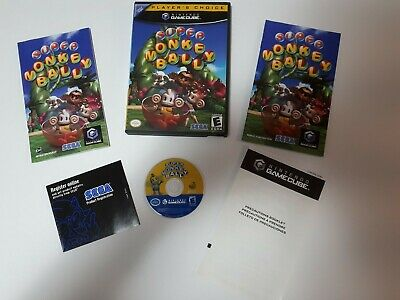 Super Monkey Ball Complete whit Manuel Fr and Eng(Nintendo GameCube, 2001)