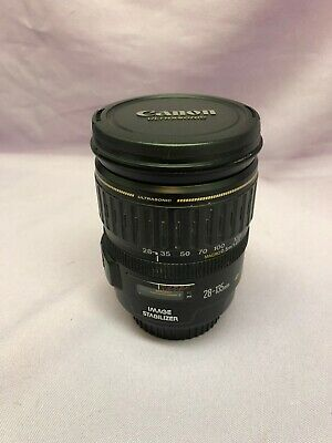 CANON 28-135mm f3.5-5.6 IS USM EF MOUNT AUTO FOCUS ZOOM LENS! Works Great!