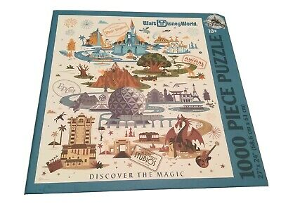 Disney World Discover the Magic Four Parks Puzzle 1000 Pieces New Free Shipping
