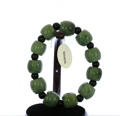 "07"" China Grade A Certified Nature Hisui Jadeite Jade Oil Green Bangle 8793"