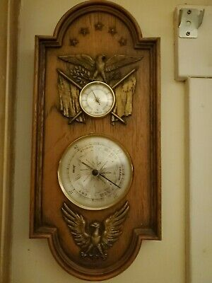 Vintage Weather Station Barometer Thermometer Humidity Sunbeam american eagle