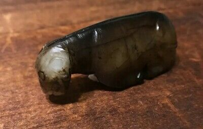 Chinese Antique Carved Archaic Style Jade RAM SHEEP Charm Statue