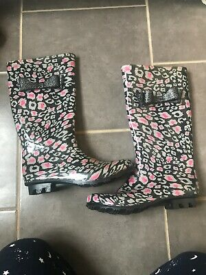 Town & Country girls / ladies Festival Wellies Wellington Boots  Size 3 UK