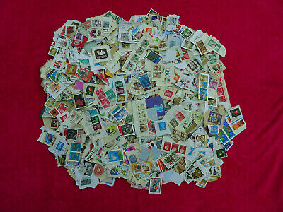 Stamps World Mixture 1400 Stamps  On Paper   Mixture  /  Collection  /  Mix