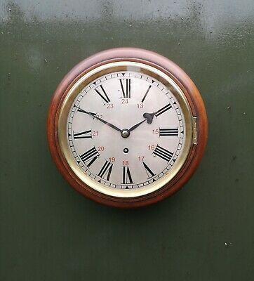 "8"" Brass Dial Fusee Wall Clock/Railway"