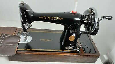 Semi-Industrial Singer 201K Handcrank Sewing Machine,NEWLY SERVICED,sews LEATHER