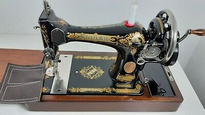Semi-Industrial Singer 28K Handcrank Sewing Machine, NEWLY SERVICED,sews LEATHER