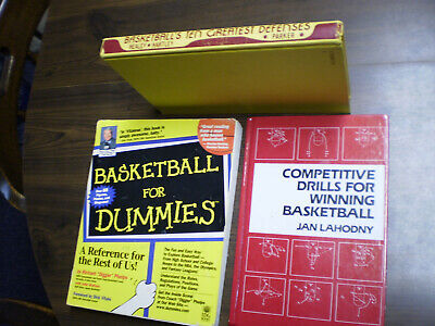A Collection Of Basketball Books On Techniques And Drills