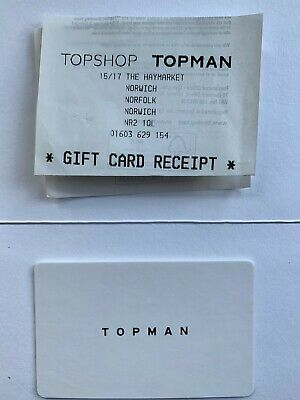 Topshop Gift Card £50 value.
