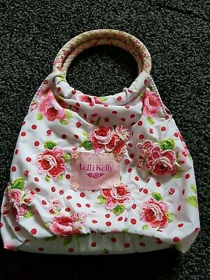Lelli kelli Bag White With pink and red roses