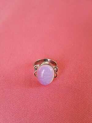 Antique Sterling Silver Ring With Moon Stone Marked excellent size 6.5 rare