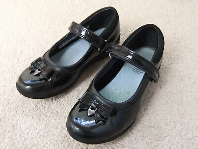 Girls Clarks Black Patent Leather Mary Jane Shoes ~ Size 11.5G
