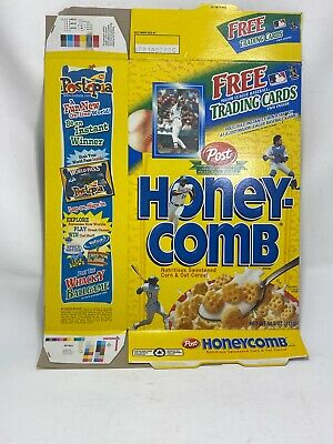 Mark McGuire Card Honeycomb Cereal Box Sealed Attached Baseball Card Flat Box