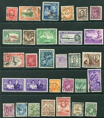 George VI Commonwealth selection of stamps - mint & used - as shown (CQ283)