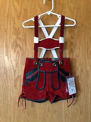 St Peter Country Lederhosen Red New Size 80