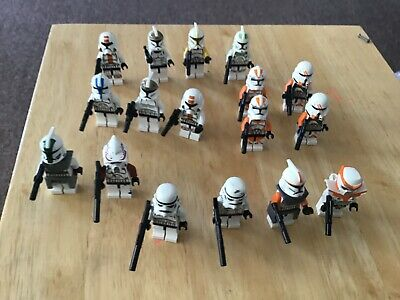 lego Star Wars minifigures- 17 genuine figures - used condition clone trooper