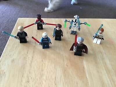 Lego Star Wars minifigures- 7 genuine figures - used condition clone wars