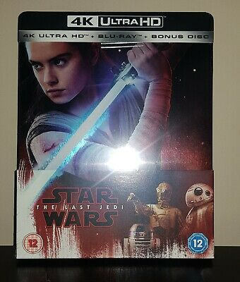 Star Wars The Last Jedi 4K UHD Blu-ray SteelBook **Factory Sealed**