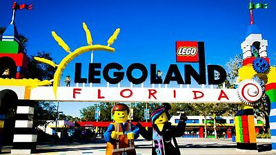 Two (2) LEGOLAND 1 Day Park + Waterpark Combo Florida Resort Tickets EXP 3/19/20