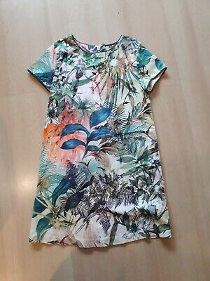 Next Girls Dress Size 6 years flowers leaves printed