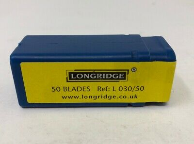 NEW Genuine LONGRIDGE Mat / Mount Cutter Blades L 030/50- Pack of 50