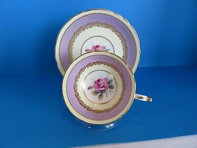 Vintage Paragon  Rose Cup And Saucer In Mauve Very Pretty
