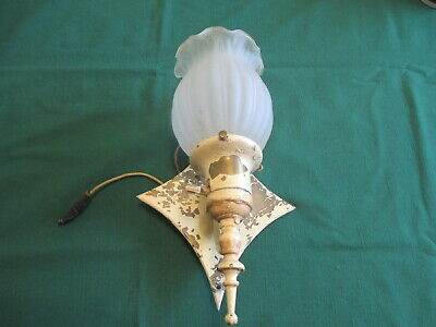 Vintage Wall Sconce Light  Antique Arts & Crafts, Mission, Gothic -  Heavy Brass