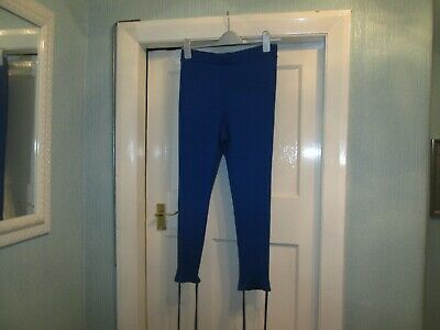 Size 12 BNWT Royal blue ribbed cropped leggings by ASOS