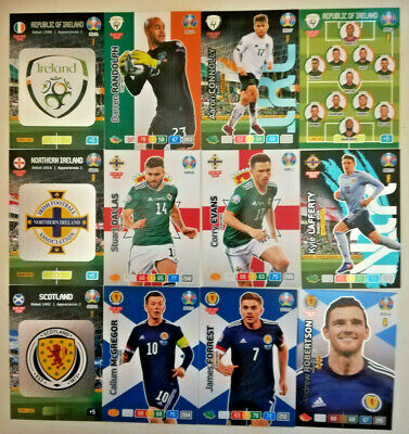 Panini UEFA Euro 2020 Adrenalyn XL Cards NORTHERN IRELAND SCOTLAND ROI EIRE