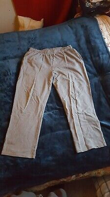 Grey Marl M&S Light jogging bottoms with zipped back pocket and drawstring