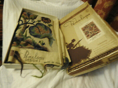 """Needlework tapestry by Penelope a firescreen B/S5831 """"JACOBEAN"""" Completed unused"""