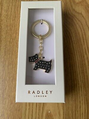 Radley Black Gold  Pageant Key Ring Stars Gift Boxed