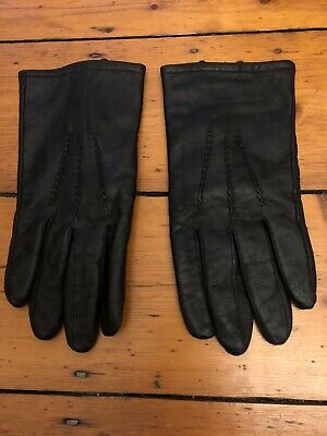 Black Mens Leather Gloves XL