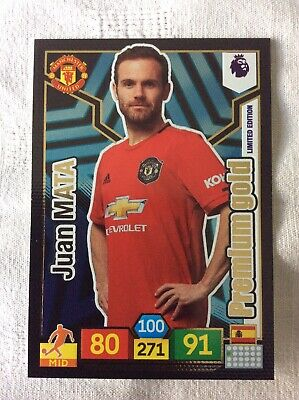 "Panini Adrenalyn XL - Premier League 2019 - 20: Juan Mata ""Limited Edition"" Card"