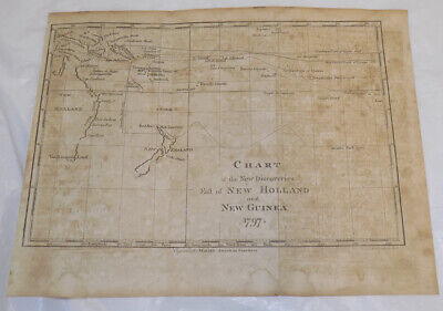 1797 Antique Map of the NEW DISCOVERIES IN THE SOUTHERN PACIFIC OCEAN