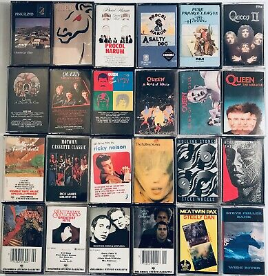 You Pick Cassette Tapes Lot: Classic Rock, 60s, 70s, Rolling Stones +Discounts+